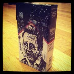 Johnny Cash Image on a pack of Marlboro Black by AaronMorganART, $35.00