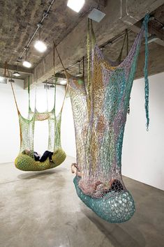 I want the green one; in my fantasy apartment.  From Ernesto Neto