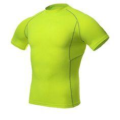 YEL 2016 Quick Dry Compression Basketball Jersey Tight Fitness Clothing Gym Training Men'S Sportswear Running Short T Shirt Men