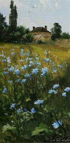 Sergue Toutounov Landscape Art, Landscape Paintings, Pictures To Paint, Love Art, Painting Inspiration, Amazing Art, Watercolor Paintings, Art Drawings, Scenery