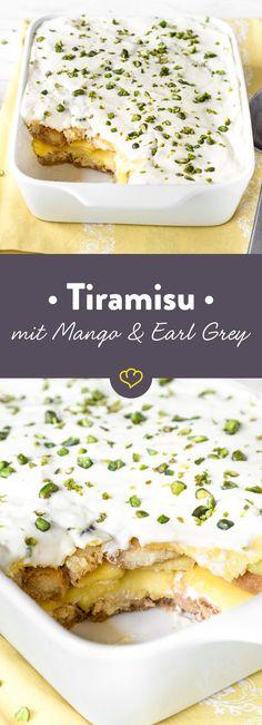 Dieses Tiramisu mit Earl Grey und Mango bietet eine köstliche Alternative zum Klassiker mit Espresso und schmeckt dabei noch herrlich fruchtig!