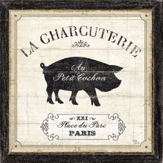 French Market sign for my pig run!
