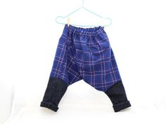 2-4yrs Wool Pantaloons in Vintage Blue Tartan by cobbledtogether, $45.00