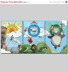 BIG SALE Studio Ghibli and Miyazaki inspired Anime by TheGeekerie, $46.17