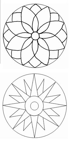 Simple Mandala Art Pattern And Designs – All Image New Mandala Design, Mandala Art, Mandala Painting, Mandala Pattern, Dot Painting, Pattern Art, Stained Glass Patterns, Mosaic Patterns, Doodle Patterns