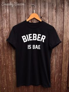 Justin Bieber tshirt - bieber shirts, justin bieber t shirt, fangirl tumblr shirt, gifts for her, t-shirt justin bieber, bieber is my bae by SneakyBaconTees on Etsy https://www.etsy.com/listing/258110132/justin-bieber-tshirt-bieber-shirts