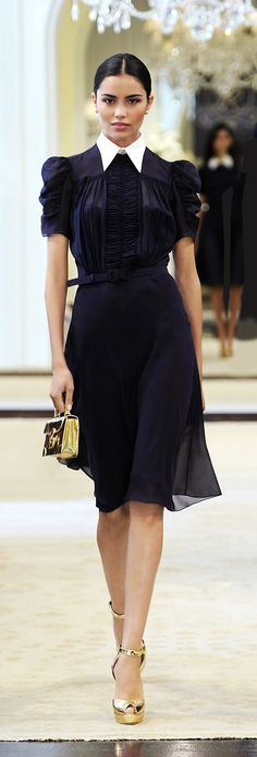Ralph Lauren resort-2015 Astounding. 40's revival with a solemn flamenco air. Velasquez à la guinguette!