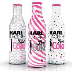 Karl Lagerfeld for Diet Coke /// Yo tengo estas 3 botellas, las compre en Amsterdam y gracias a una de ellas ensucio una maleta completa, pero no me importo :)