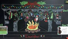 I love how cute PWC made their chalkboard for December #officeideas