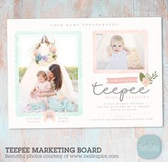 Teepee Marketing Board Template IG012 from Paper Lark Designs