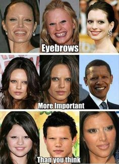 The importance of eyebrows (we'd all look less than sane without them)