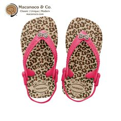 "Havaianas    Designed for your ""mini me"", the Baby Chic features a cute fashion sunglasses embellishment for girls on the fabric slingback strap. A fashionable print provides added style, and our signature textured footbed and fabric slingback keeps tiny feet comfortable and protected.      	Thong style with a comfortable slingback strap for a secure fit  	Cushioned footbed with textured rice pattern and rubber sole  	Made in Brazil      Order…"