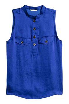 Blusa de cetim sem mangas | H&M