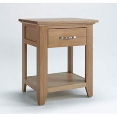 Sherwood Oak Lamp Table with Drawer - The Sherwood Oak Lamp Table with Drawer is from without doubt the best value for money contemporary light oak furniture collection available on the UK market. The Sherwood Oak furniture range has been made using only Skinny Bedside Table, Bedside Table Ikea, Oak Nightstand, Lamp Table, Bedside Lamp, Nightstands, Light Oak Furniture, Home Furniture, Ottoman Furniture