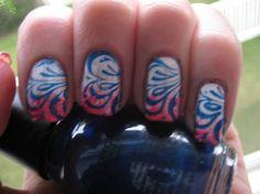 4th of July nail art by wetnailpolish - Nail Art Gallery nailartgallery.nailsmag.com by Nails Magazine www.nailsmag.com #nailart