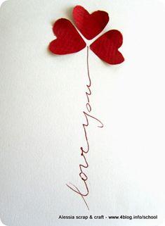 Biglietto fai da te veloce per #San #Valentino