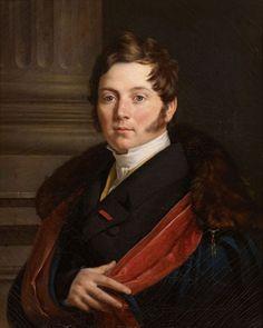 Antoine VAN YSENDYCK (Anvers 1801-1824)  Portrait d'Henri Etienne Edmond de Victurnien de Beauvau, prince de Craon Toile 60 x 50 cm Signé et daté au dos 1824.