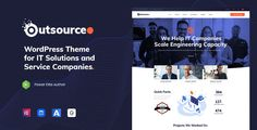Buy Outsourceo - IT Solutions WordPress by TrueThemes on ThemeForest. Outsourceo is an outstanding, creative and latest WordPress Theme for outsource companies and agencies, packed-up wi. Themes For Mobile, Website Software, Web Themes, Web Design Agency, Wordpress Template, Company Profile, Best Wordpress Themes, User Interface, Leadership