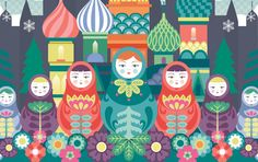 QTE's Russian Collection by Cyla Costa, via Behance