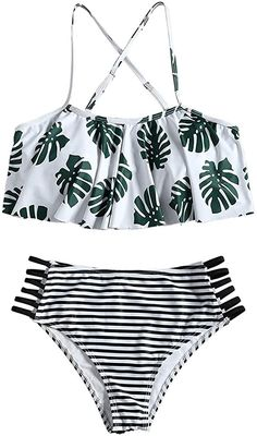 TUDUZ Bademode Damen Gro/ße Gr/ö/ßen Bikini-Sets Tankini Oversize Blume Push Up Schwimmanzug