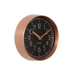 Karlsson Convex Wall Clock - Copper & Black (22cm) | Koop.co.nz