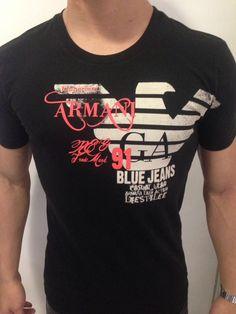 Boys T Shirts, Tee Shirts, Armani Jeans, Swagg, Emporio Armani, Printed Shirts, Blue Jeans, Supreme, Graphic Tees