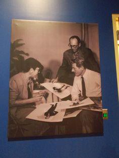 Edith Head, costumer, meets with Danny Kaye