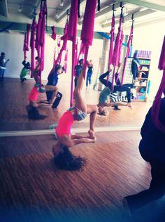 Flying Yoga at Art Yoga Studio #inversions