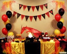 Dragon Birthday Party Complete Party Set Print At Home