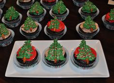 Christmas Tree Cupcakes by Summer's Sweet Treats