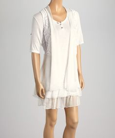Another great find on #zulily! White Embroidered Layered Dress #zulilyfinds