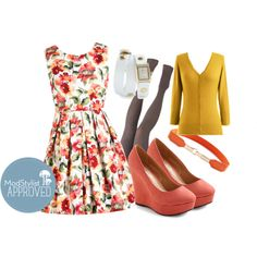 """""""Demure and Simple Dress"""" by modcloth on Polyvore"""
