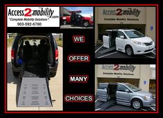 Tyler, Texas: www.access2mobility.com/vans Make sure to check out all of our wheelchair accessible vans & trucks. #tyler #wheelchair #accessible #van #truck