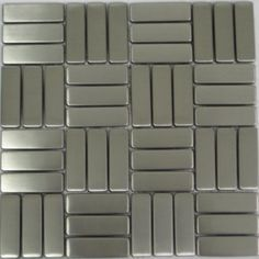 """Mosaicmaxusa - Stainless Steel Mosaic Tile (10.25""""x10.25""""): 5 Sheets Mosaicmaxusa http://www.amazon.com/dp/B002RN6L1K/ref=cm_sw_r_pi_dp_IdQaub1F8Y0C8"""