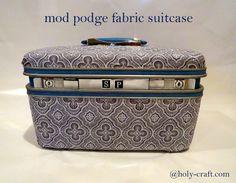 Holy Craft: Mod podge vintage suitcase upcycle