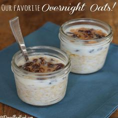 A classic overnight oats recipe. Make this the night before and wake up to a delicious, hearty breakfast that will get your day started off on the right foot.