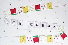 imprimibles gratis-guirnalda cono helado sadía y piña-vía-AHDO