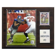 NFL 12 x 15 in. Osi Umenyiora New York Giants Player Plaque - 1215OSI