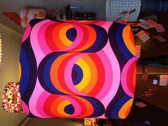 Vintage English fabric custom shade. Love the pink