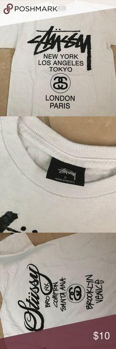 Stussy T-shirt. Good condition. Stussy T-shirt. Good condition. White and black. Stussy Tops Tees - Short Sleeve