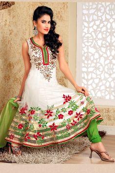 Ready Made Tranquil Aloe Vera Green & White Salwar Kameez   Read more: http://www.gravity-fashion.com/10764-ready-made-tranquil-aloe-vera-green-white-salwar-kameez.html#ixzz2gjHeyg2f