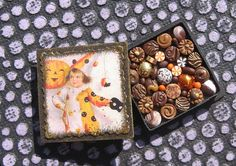 Halloween Miniature Box of Chocolates 12th Scale by TheSweetBaker