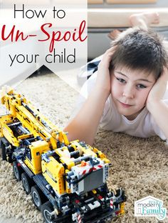 how to un-spoil your child