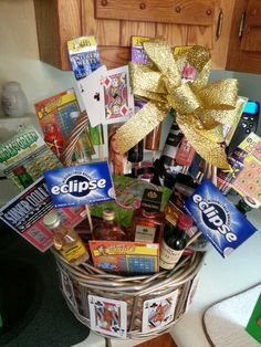 Gift baskets for men, themed gift baskets, theme baskets, man baske Casino Night Party, Casino Theme Parties, Party Themes, Baskets For Men, Gift Baskets, Raffle Baskets, Casino Royale, Theme Baskets, Image Gifts