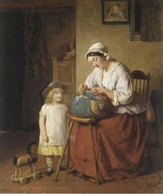Con nuestras manos: Encajeras en el arte George Smith 1829-1901 (Britanico) The lacemakers