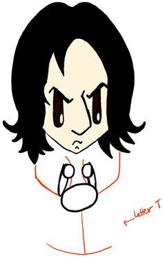 230bf8fc7 How to Draw Cute Chibi Severus Snape from Harry Potter in Easy Steps