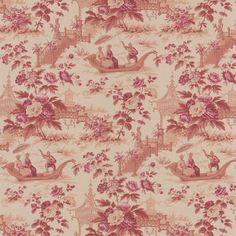 Give the walls in your living space a pop of color with this red toile wallpaper. It features an Asian-style design that includes sketched designs for a unique touch with a rustic appeal. It is prepasted, so it is easy to hang on your walls.