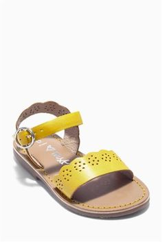 Buy Scallop Leather Sandals (Younger Girls) online today at Next: Slovakia