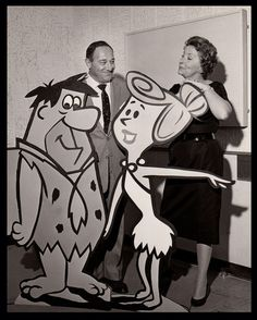 The Voices of The Flintstones — Alan Reed (Fred) & Jean Vander Pyl (Wilma & Pebbles). Jean was also the voice of Rosie the Robot on The Jetsons.