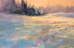 How to Paint a Snowy, Winter Landscape in pastel with Les Darlow